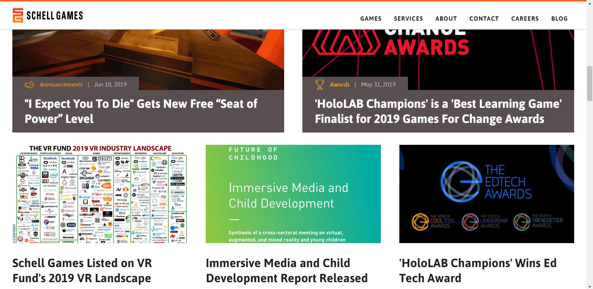 Schell Games Homepage